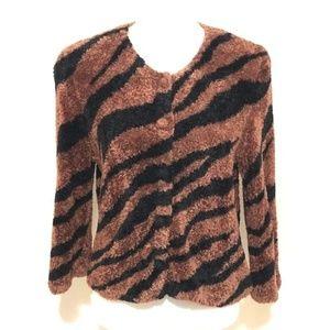 Michael Simon Vintage Brown Cardigan Sweater
